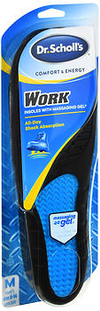 Dr. Scholl's Comfort & Energy Work Insoles With Massaging Gel Men's 8-14 1 PR