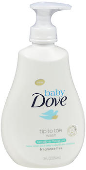 Baby Dove Tip To Toe Wash Sensitive Moisture Fragrance Free 13 oz