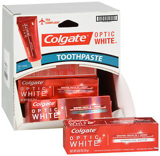 Colgate Optic White Advanced Whitening Anticavity Fluoride Toothpaste Sparkling Mint  24.9G