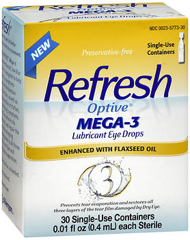 REFRESH Optive Mega-3 Lubricant Eye Drops with Flaxseed Oil