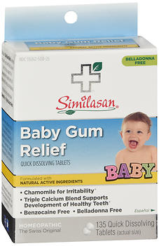 Similasan Baby Gum Relief Quick Dissolving Tablets 135 TB