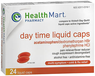 Health Mart Multi-Symptom Daytime Liquid Caps