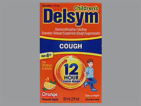Delsym Children's 12 Hour Cough Liquid Orange Flavored 3 oz