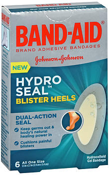 Band-Aid Hydro Seal Blister Heels Hydrocolloid Gel Bandages 6 EA