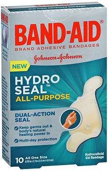 Band-Aid Hydro Seal All-Purpose Hydrocolloid Gel Bandages 10 EA