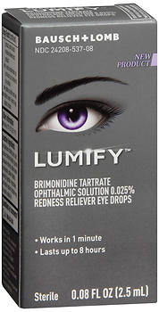 Bausch + Lomb Lumify Redness Reliever Eye Drops 2.5 ML