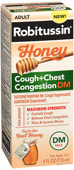 Robitussin Adult Honey Cough + Chest Congestion DM Liquid 4 OZ