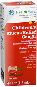 Health Mart Children's Mucus Relief Cough Syrup Cherry Flavor