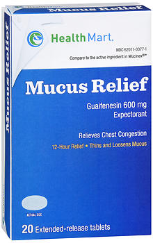 Health Mart Mucus Relief Extended-Release Tablets 20 CT