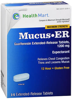 Health Mart Maximum Strength Mucus Relief Extended-Release Tablets