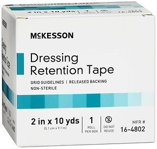 McKesson Dressing Retention Tape Roll 2 in x 10 yds 10 YD