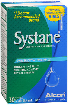Systane Lubricant Eye Drops Vials