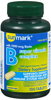 Sunmark Vitamin B Complex with Vitamin C Tablets