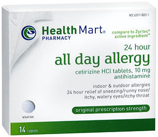 Health Mart 24 Hour All Day Allergy Tablets