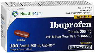 Health Mart 200 mg Ibuprofen Coated Caplets 100 CP