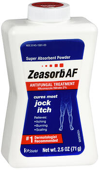 Zeasorb AF Antifungal Treatment Super Absorbent Powder 2.5 OZ