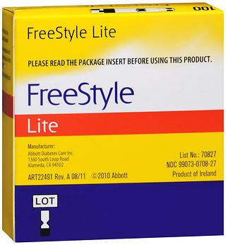 FREE STYLE LITE GLUCOSE TEST STRIP 100