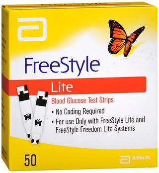 FREE STYLE LITE GLUCOSE TEST STRIP 50