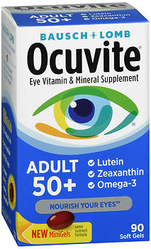 Bausch + Lomb Ocuvite Adult 50+ Eye Vitamin & Mineral Soft Gels