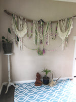 How to make a Macrame Wall hanging in Chunky Wool Yarn