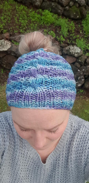Striped wool hat pattern womans knitted hat