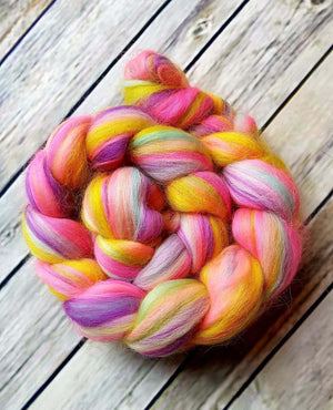 Unicorn Massacre Dye Candy Custom Blended Fibre