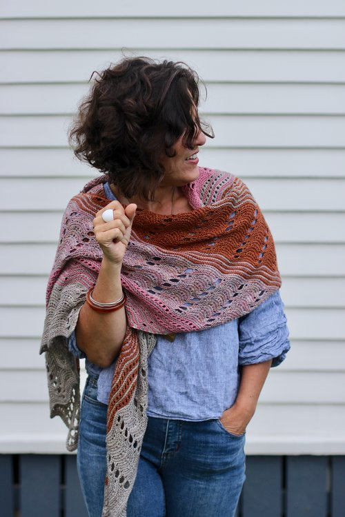 Dirty Lace Shawl Truly Myrtle A5 Printed Pattern Booklet
