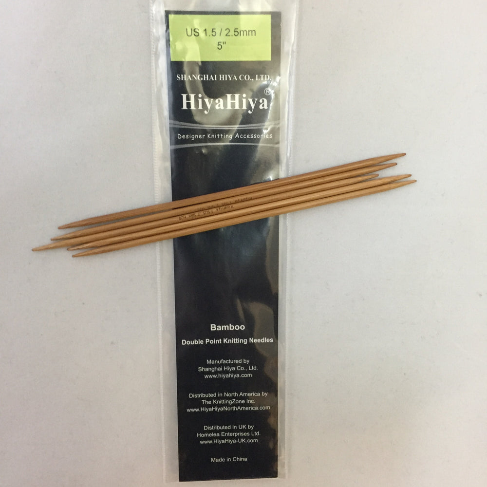 "5"" Double pointed needles"