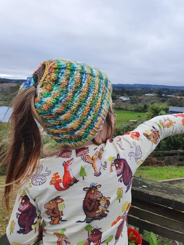 Free Easy Childrens Knited Hat pattern Fast