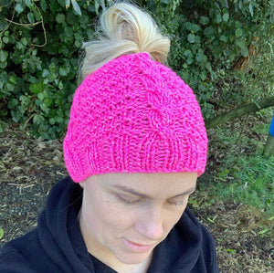 Easy 8ply Wool Knitted Hat