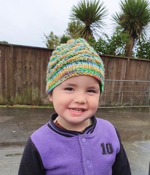 Free Kids Knitting pattern Hat boys knitted hat pattern