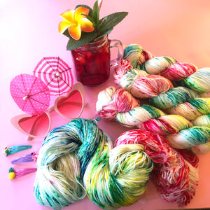 Got Me Feline Fine - Summer Squeeze Collection - Merino 4ply Fingering Yarn