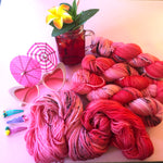 Hibiscuous Girl - Summer Squeeze Collection - Merino 4ply Fingering Yarn