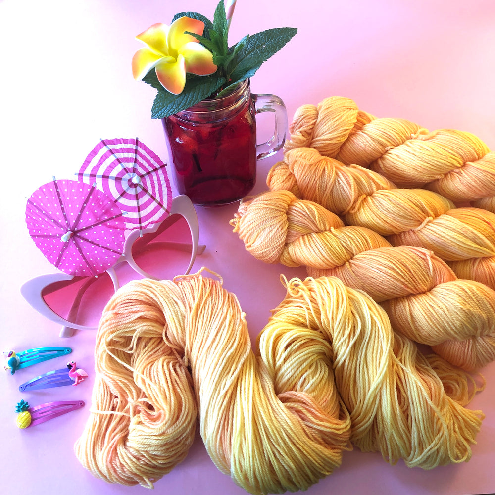 PRE ORDER - Summer Squeeze Collection - Merino Nylon 4ply Fingering Yarn
