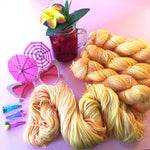 Make a Mango Crazy - Summer Squeeze Collection - Merino 4ply Fingering Yarn