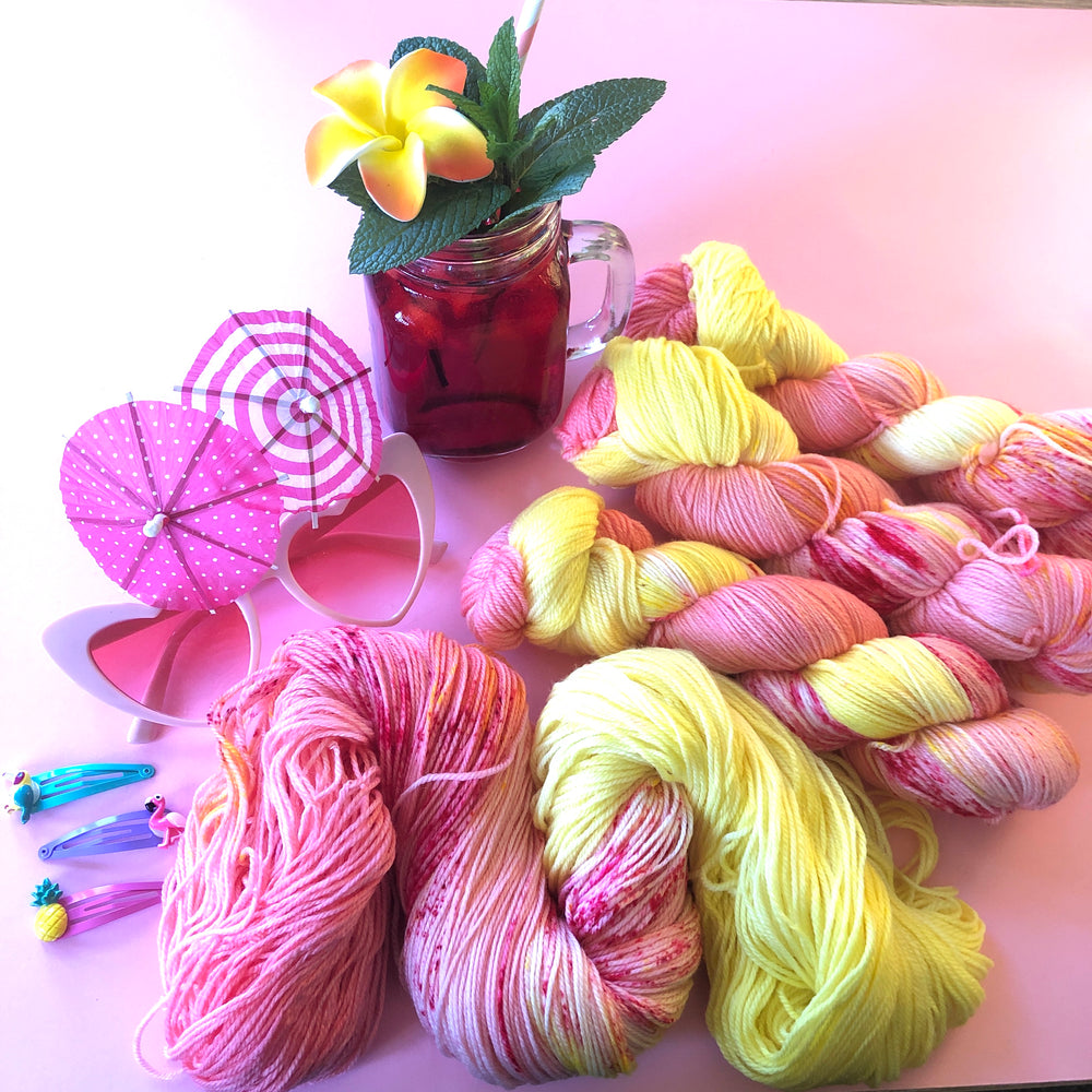 Life's a Peach & Then You Marry One - Summer Squeeze Collection - Merino 4ply Fingering Yarn