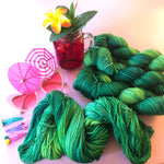 Saturdays Are for the Bromeliads - Summer Squeeze Collection - Merino 4ply Fingering Yarn