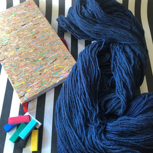 Load image into Gallery viewer, Navy - Vivid Heathers DK - NZ Grown Milled and Dyed Merino / Alpaca