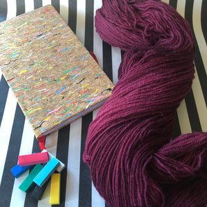 Load image into Gallery viewer, Pinot Noir - Vivid Heathers DK - NZ Grown Milled and Dyed Merino / Alpaca