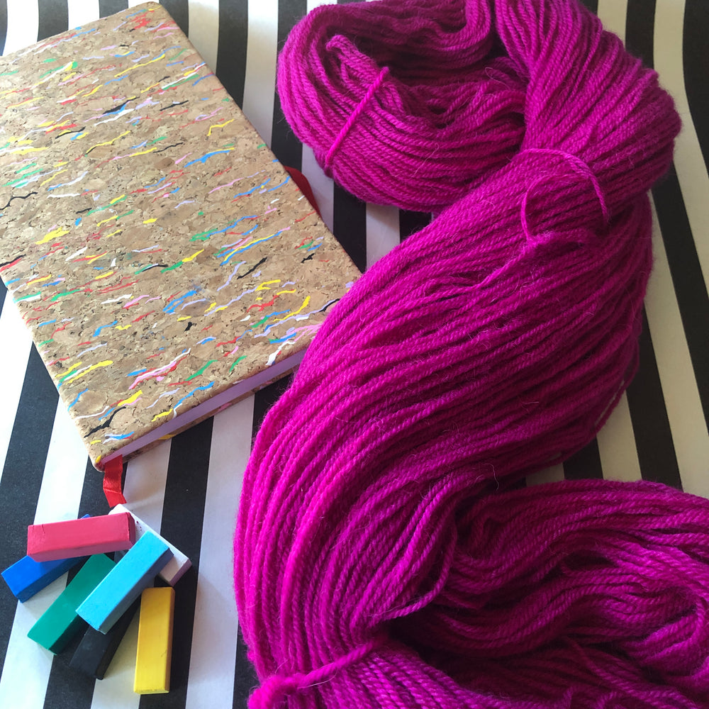 Magenta - Vivid Heathers 4ply - NZ Grown Milled and Dyed Merino / Alpaca