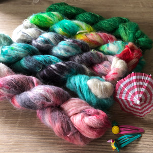 Load image into Gallery viewer, PRE ORDER - Summer Squeeze Collection - Sexy Sister Alpaca Silk Fluff