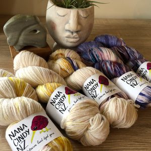 Champagne at Dusk Fade Kit - Dreamy NZ Grown Milled and Dyed Polwarth Alpaca