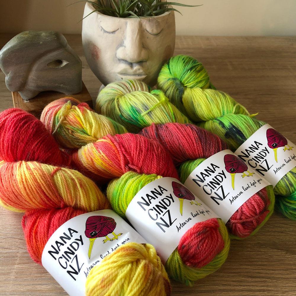 Guava Goodness Fade Kit - Dreamy NZ Grown Milled and Dyed Polwarth Alpaca