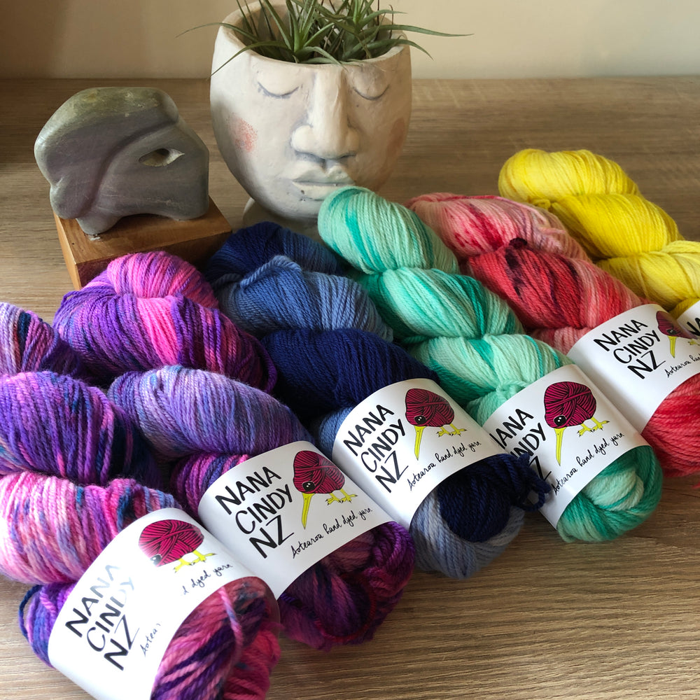 Funky Fun Colourwork Kit - Dreamy NZ Grown Milled and Dyed Polwarth Alpaca