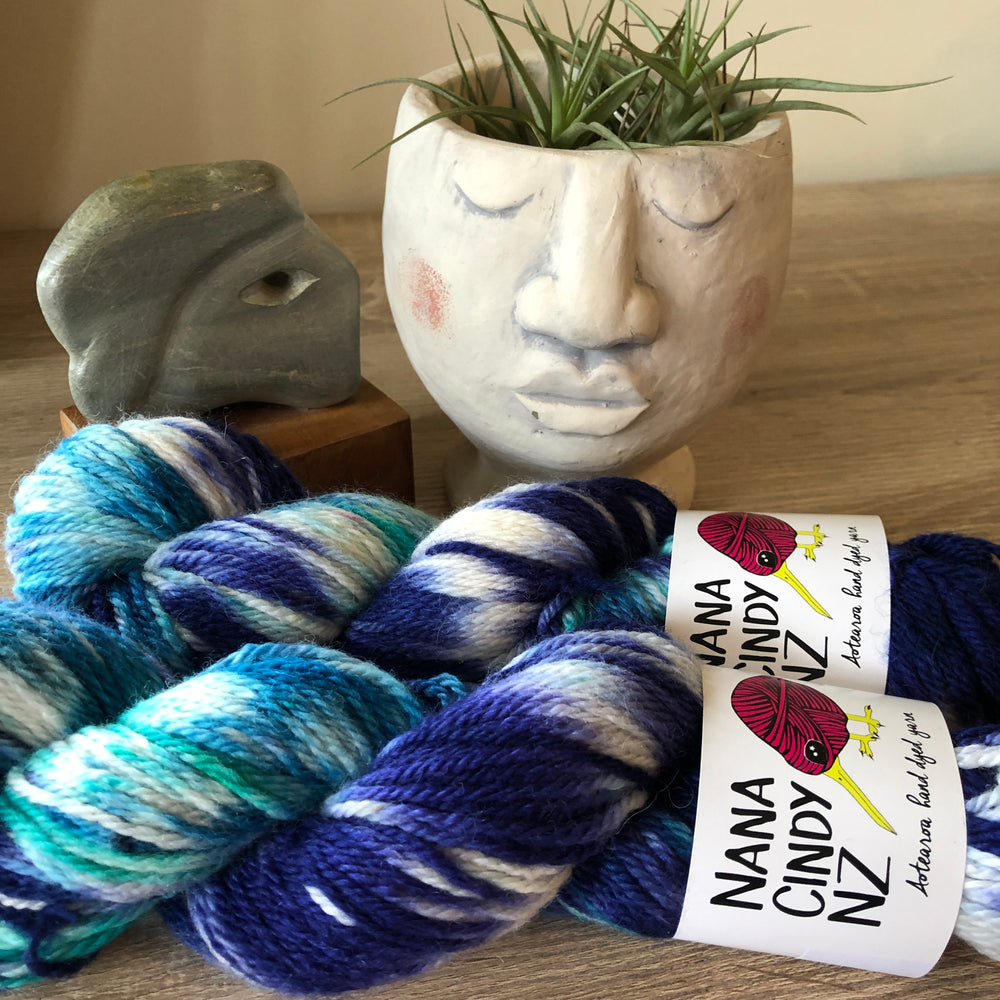 The Oneders - Blue & Turquoise - Sumptuous DK/10ply - The Woven Nana-Cindy Exclusive