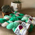 The Oneders OOAK Silver Mint - NZ Grown Milled and Dyed 14ply/Chunky Merino Wool Yarn