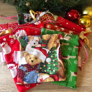 Load image into Gallery viewer, Christmas Eco Present Wrap Bags by Aunty-Nana