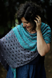 (Thunder) Cloud Kisses Shawl Truly Myrtle A5 Printed Pattern Booklet