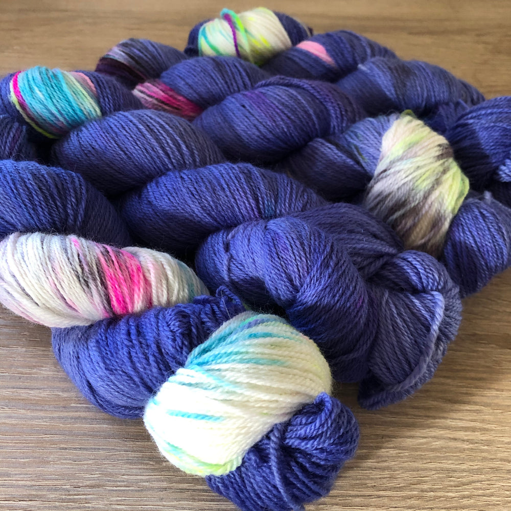Blueberry Babe - Dreamy - NZ Grown Milled and Dyed Polwarth Alpaca