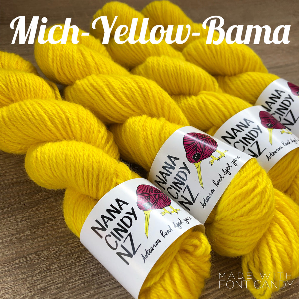Load image into Gallery viewer, Mich-Yellow-Bama - Sumptuous DK/10ply - The Woven Nana-Cindy Exclusive
